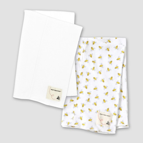 Burt's Bees Baby Organic Cotton 2pk Burp Cloth Set - Bees - image 1 of 3
