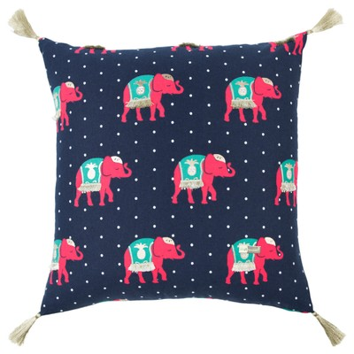 Simply Southern Animal Print Throw Pillow Indigo - Rizzy Home