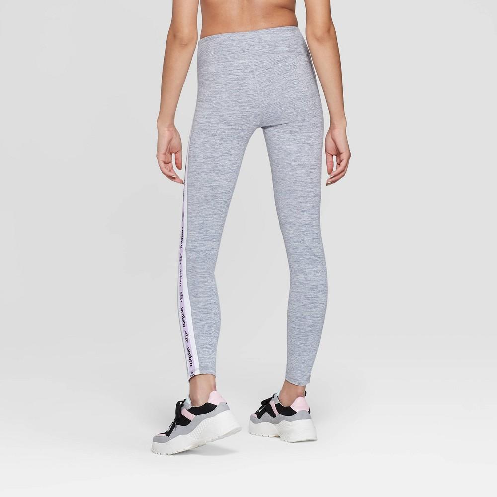 Umbro Women's Logo Mid-Rise Leggings Mid Gray XS, Mid Grey