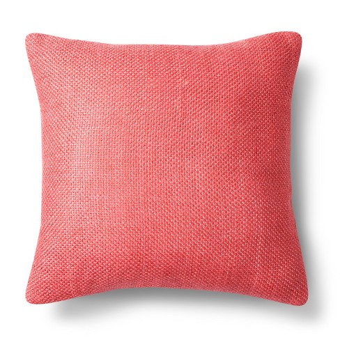"Coral Pebble Square Throw Pillow (18""x18"") - Threshold™ - image 1 of 1"