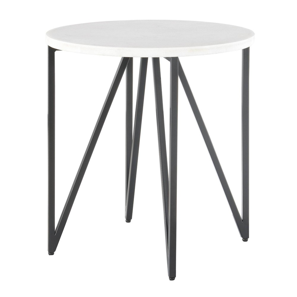 Kinsler Round End Table White - Picket House Furnishings