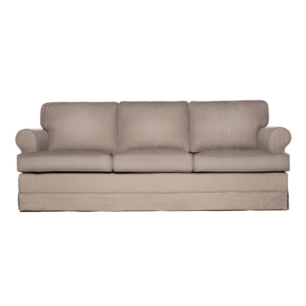 Everett Sofa Mouse Light Brown - Sofas 2 Go