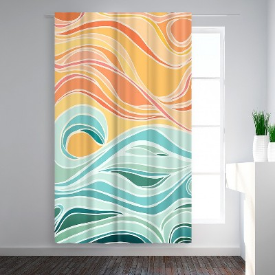 Americanflat Sky And Sea by Modern Tropical Blackout Rod Pocket Single Curtain Panel 50x84