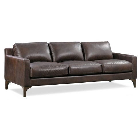 Memphis Leather Sofa - Poly & Bark - image 1 of 4