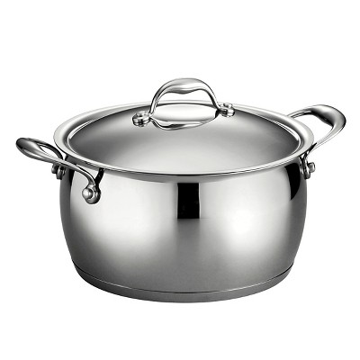 Tramontina Gourmet Domus Stainless Steel 5.5 Qt Covered Stock Pot