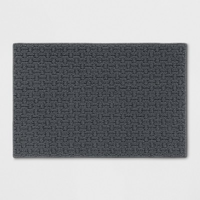 "1'8""X2'6"" Solid Washable Accent Rug Gray - Made By Design™"