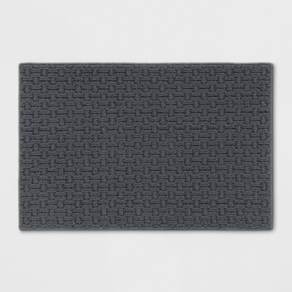 Solid Washable Accent Rug Gray