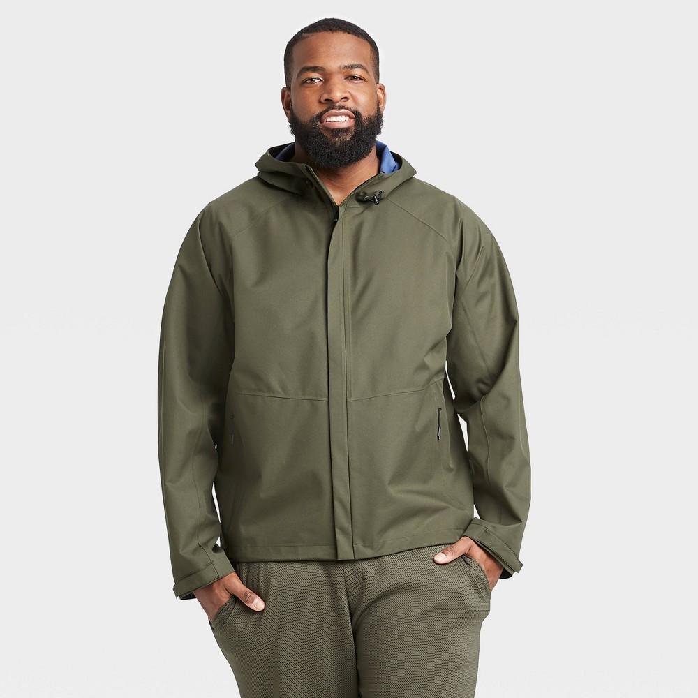 Men 39 S Waterproof Jacket All In Motion 8482 Olive Green Xxl