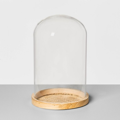 Cloche with Cane Woven Base - Hearth & Hand™ with Magnolia - image 1 of 3