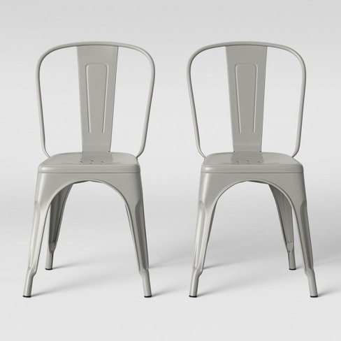 Set of 2 Carlisle High Back Dining Chair Taupe Soft Taupe - Threshold™ - image 1 of 5
