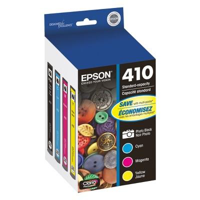 Epson 410 Single & 4pk Ink Cartridges - Black, Multicolor