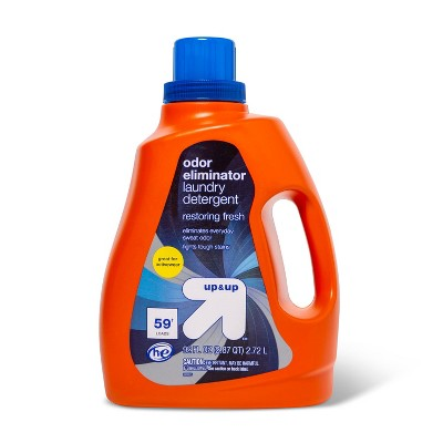 Odor Eliminator Liquid Laundry Detergent - Restoring Fresh - 92oz - up & up™