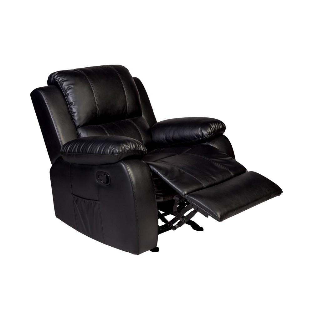 Image of Clarkson Massage Recliner Black - Relaxzen