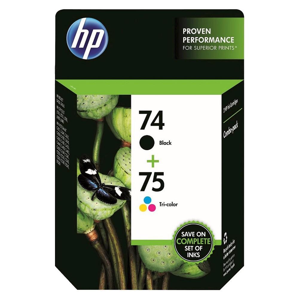 HP 74/75 Combo 2pk Ink Cartridges - Black, Tri-color (CC659FN#14), Black (74)/Tri-Color (75)