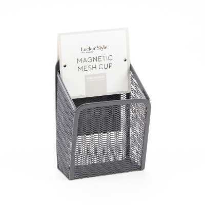Magnetic Mesh Cup Gray - Locker Style