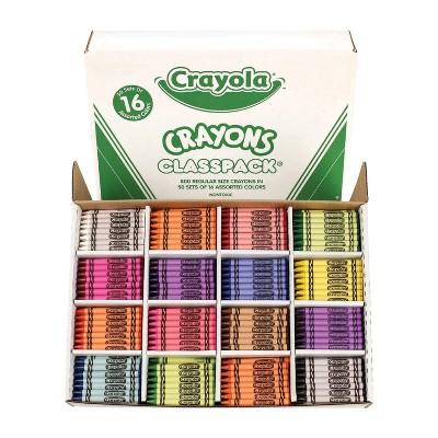 Crayola Crayon Classroom pk, 16 Assorted Colors, set of 800