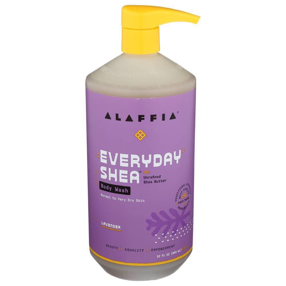 Image of Alaffia Lavender Shea Butter & Neem Body Wash - 32 fl oz