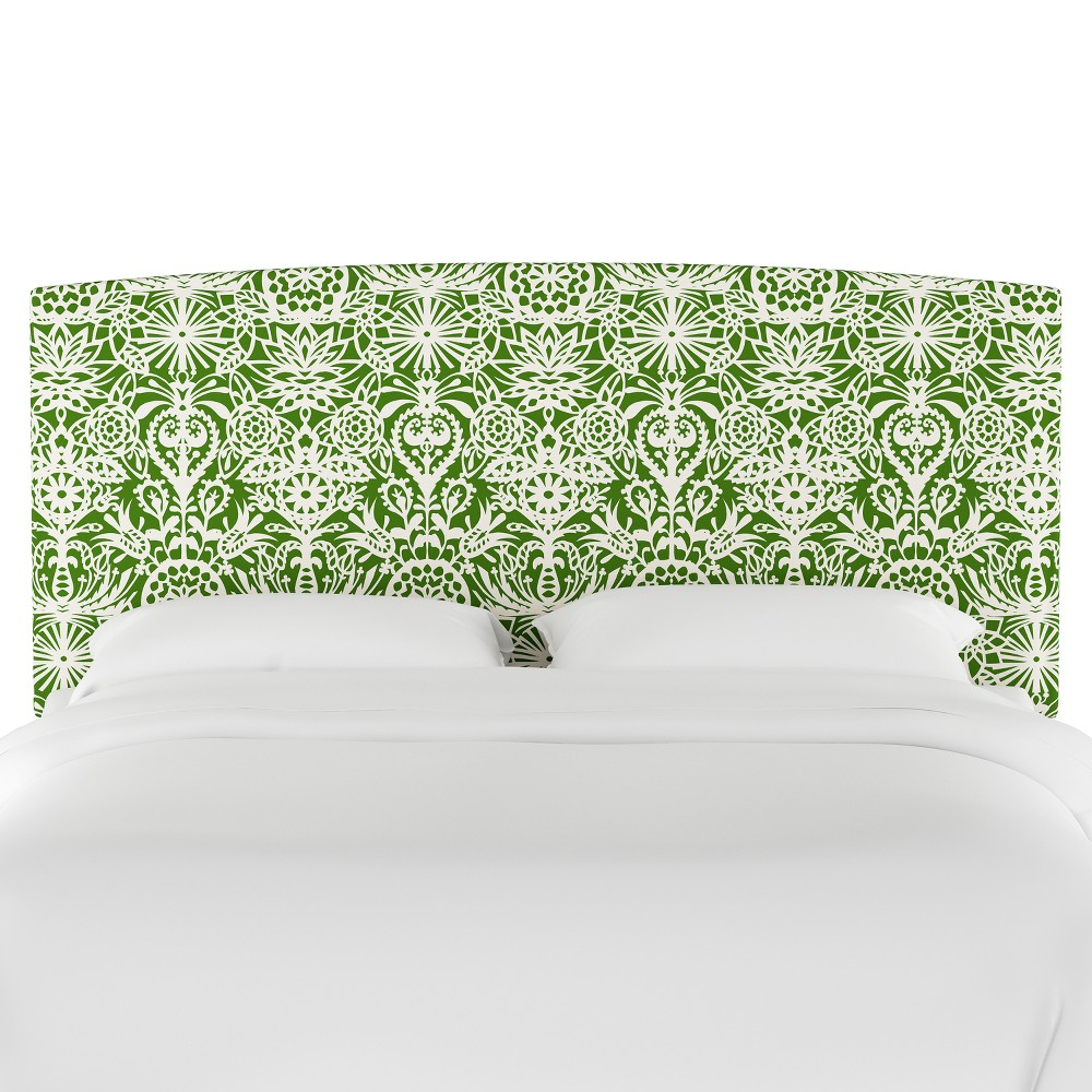 Upholstered Headboard King Green & White Floral - Opalhouse
