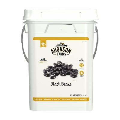 Augason Farms Black Beans Emergency Bulk Food Storage 4-Gallon Pail 236 Servings