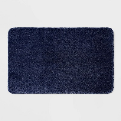 "23""x37"" Performance Nylon Bath Rug Navy Blue - Threshold™"