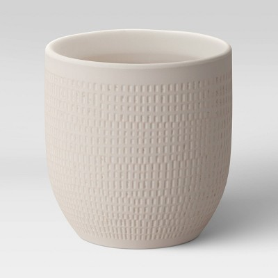 "4"" Textured Ceramic Planter White - Project 62™"