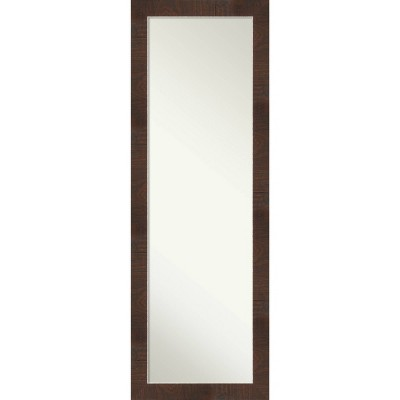 "18"" x 52"" Wildwood Framed On the Door Mirror Brown - Amanti Art"