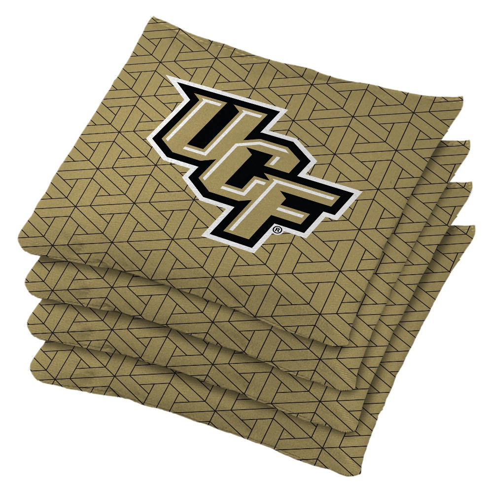 NCAA Ucf Knights 4pk Bean Bag Set - Gold