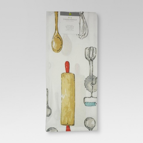 Flour Sack Utensil Printed Kitchen Towel - Threshold™ - image 1 of 2