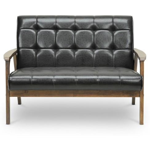 Mid-Century Masterpieces Loveseat Brown - Baxton Studio - image 1 of 3