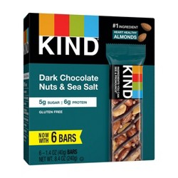 KIND Dark Chocolate Nut with Sea Salt Bars - 14oz/6ct
