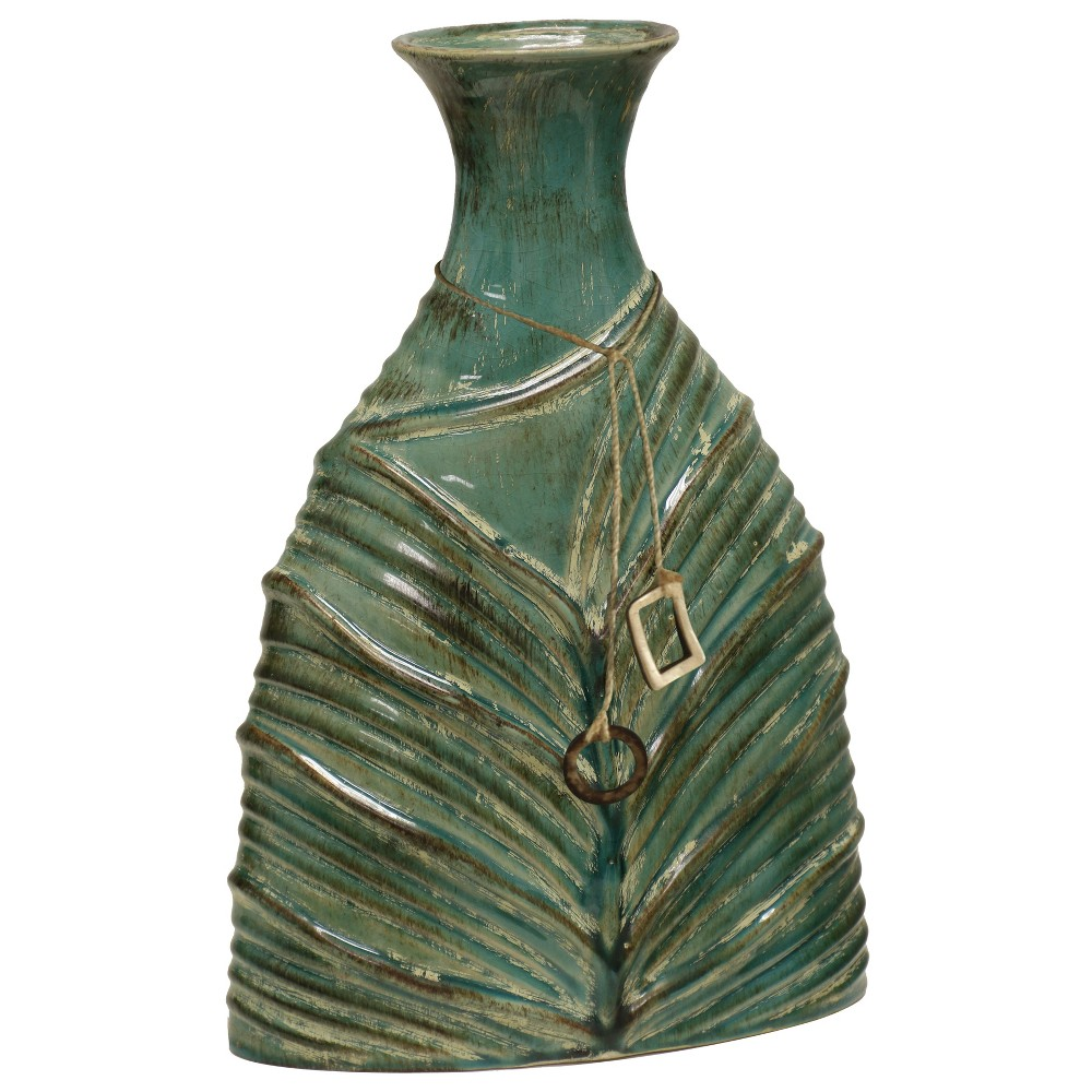 Decorative Vase Textured Small - Turquoise, Hunting Green