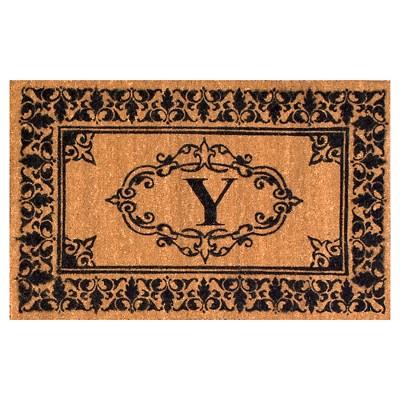nuLOOM Monogrammed Doormat - Letter Y (2' 6  x 4')