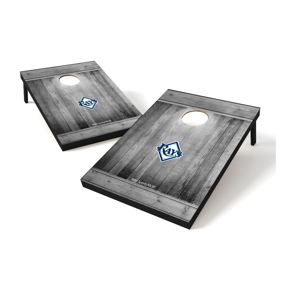 Tampa Bay Rays Wild Sports 2x3 Rustic Wooden Plaque Gray Wash Tailgate Toss