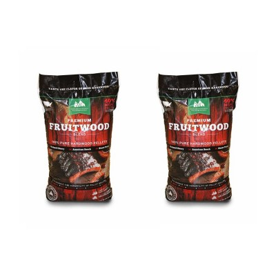 Green Mountain Premium Fruitwood Pure Hardwood Grilling Cooking Pellets (2 Pack)