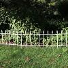 Sunnydaze Outdoor Lawn and Garden Metal Roman Style Decorative Border Fence Panel Set - 9' - White - 5pk - image 3 of 4