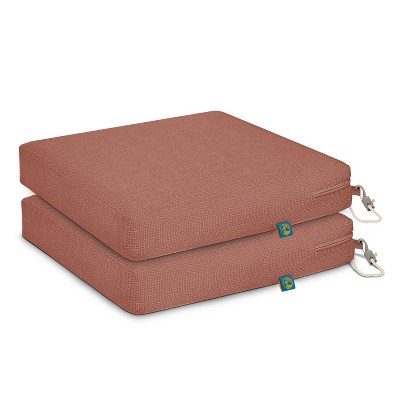 """2pc 17"""" x 17"""" x 3"""" Duck Covers Weekend Water-Resistant Outdoor Dining Seat Cushion - Classic Accessories"""