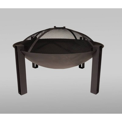 "27"" Cast Iron Wood Burning Fire Bowl - Black - Catalina Creations"