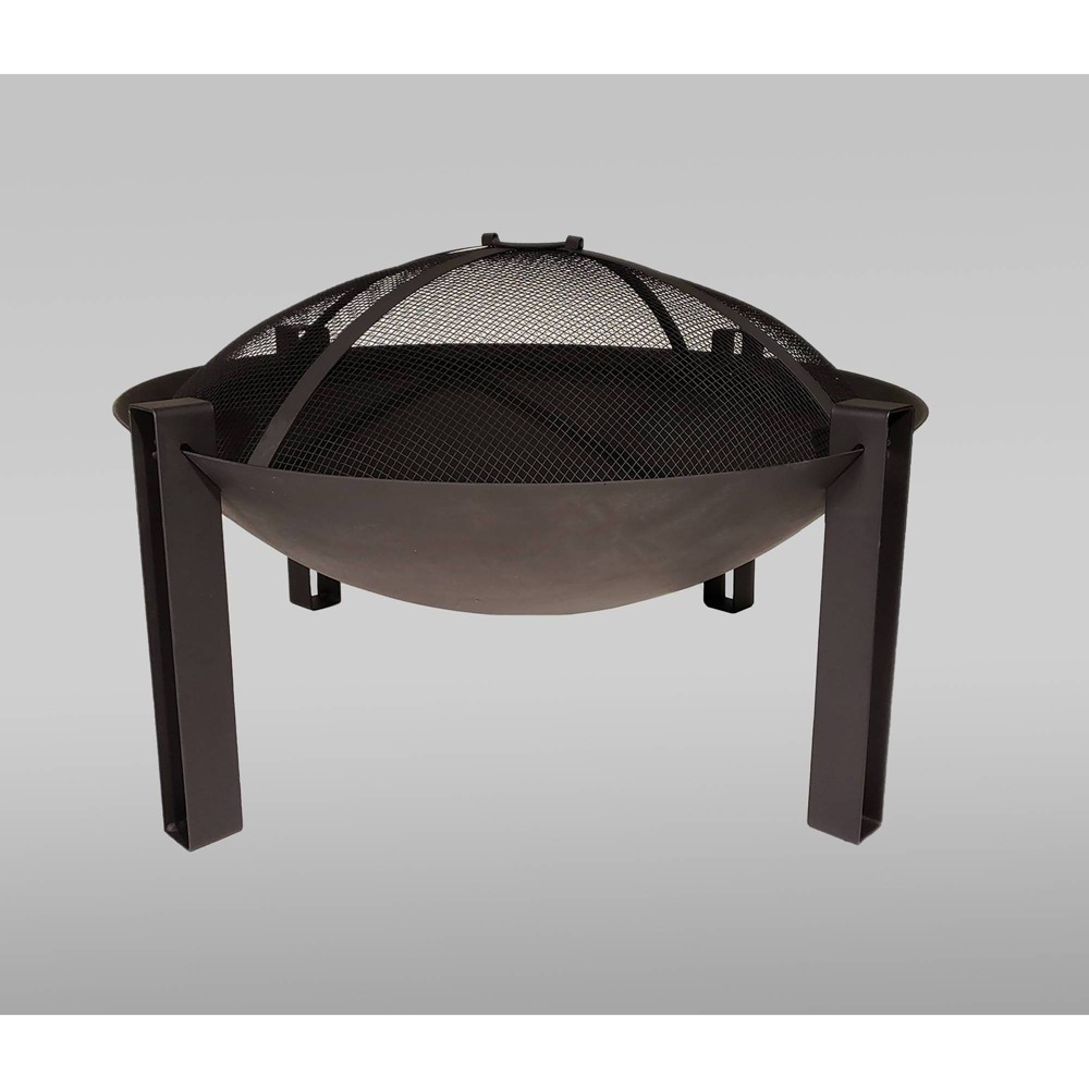 "Image of ""27"""" Cast Iron Wood Burning Fire Bowl - Black - Catalina Creations"""