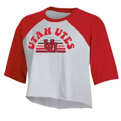 NCAA Utah Utes Women's Short Sleeve Cropped T-Shirt