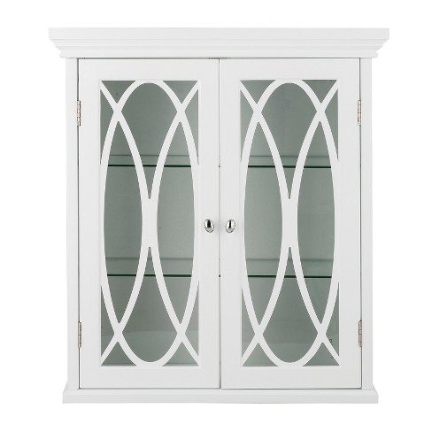 "Laurel Two Door Wall Cabinet 24"" White - Elegant Home Fashions - image 1 of 4"
