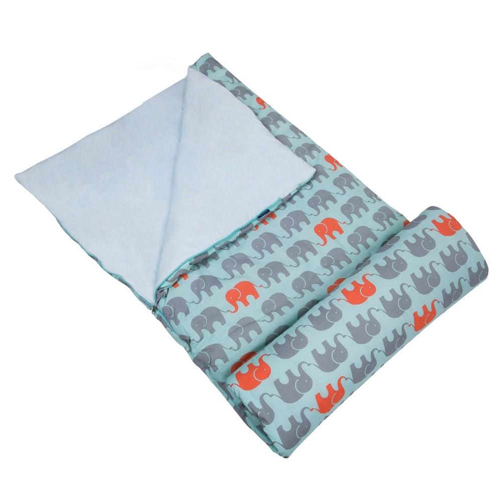 Wildkin Elephants Original 60 Degrees Fahrenheit Sleeping Bag