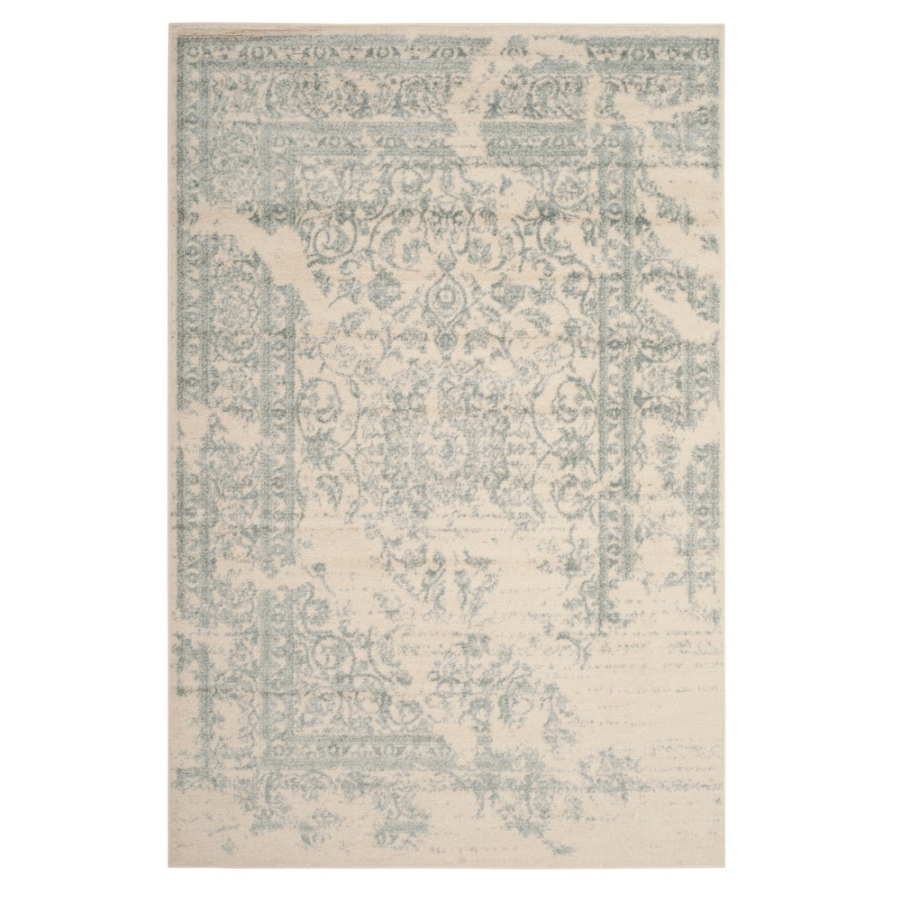 Ivory/Slate (Ivory/Grey) Medallion Loomed Area Rug 6'X9' - Safavieh