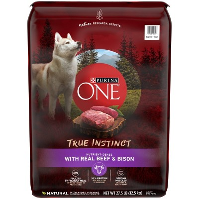 Purina ONE True Instinct Beef & Bison Dry Dog Food - 27.5lbs