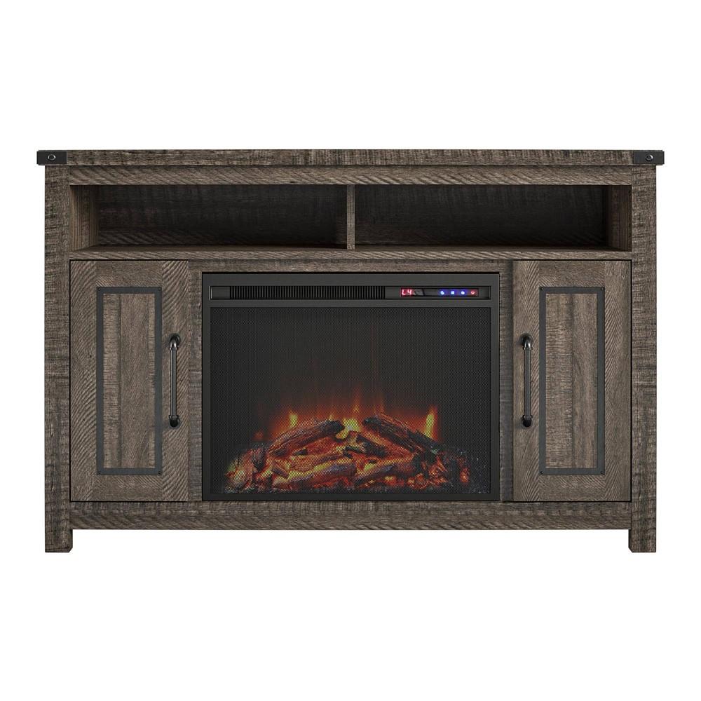 "Image of ""48"""" Bellrock Fireplace TV Stand Rustic Oak - Room & Joy"""