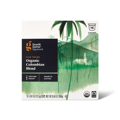 Signature Organic Colombian Blend Medium Roast Coffee - 16ct Single Serve Pods - Good & Gather™