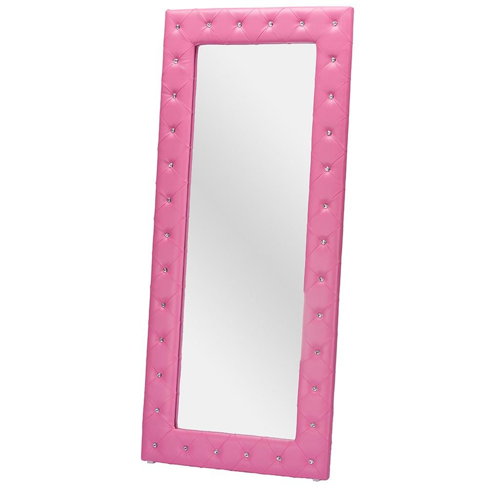 Floor Mirror Baxton Studio Pink - Baxton Studio