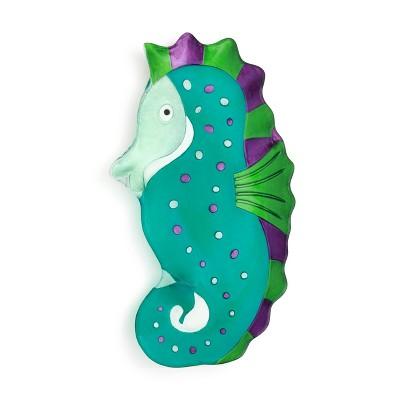 DEMDACO Seahorse Platter Green