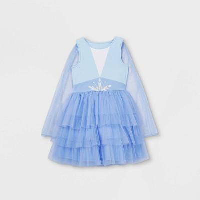 Girls' Disney Frozen Elsa Cape Tutu Dress - Blue