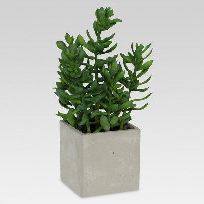 Artificial Jade in Square Ceramic Pot - Large - Threshold™