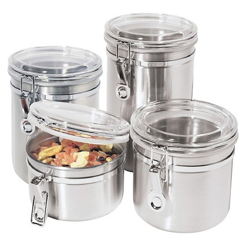 OGGI Stainless Steel Canister Set 4pc - image 1 of 3